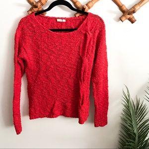 Anthropologie   Yellow Bird Skewed Knit Sweater